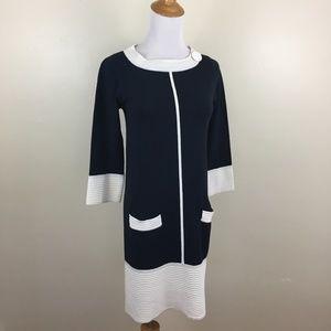 MISSONI Pockets Colorblock Knit Sweater Dress